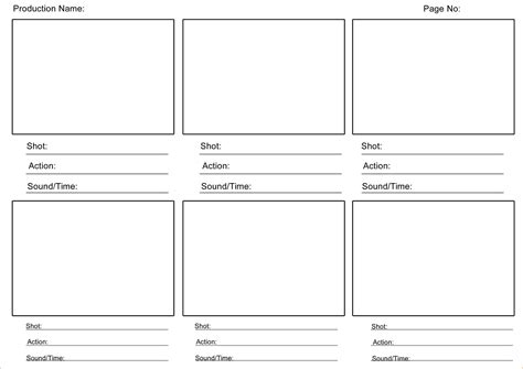 4 Video Storyboard Template Teknoswitch Story Template Pdf