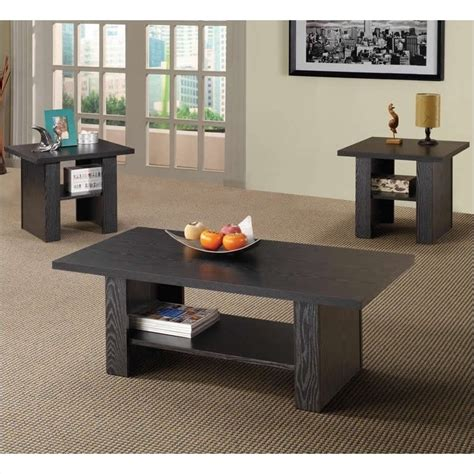 3 piece living room table set coaster 3 piece occasional table sets contemporary set in