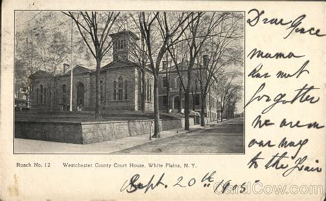 Westchester County Court Records Westchester County Court House White Plains Ny Postcard