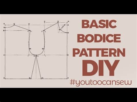 bodice pattern making youtube how to draft a basic bodice pattern youtube