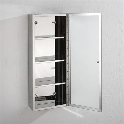 metal bathroom wall cabinet 60cm x 25cm single door mirror bathroom metal mirror