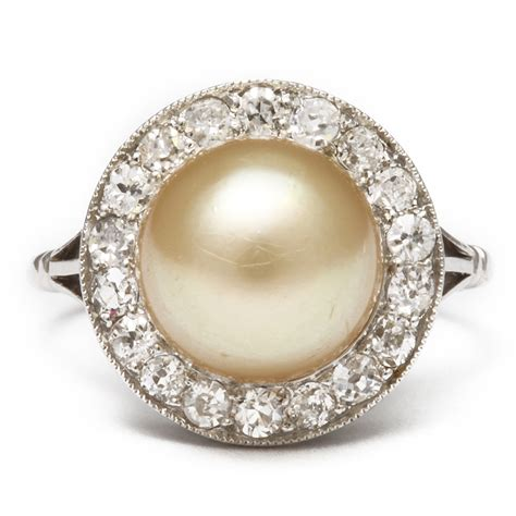 a la vieille russie antique pearl and ring