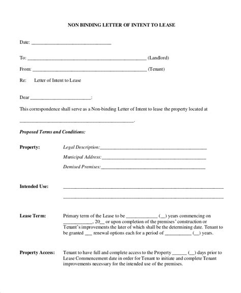 Letter Of Intent Sle 10 Free Documents In Pdf Doc Letter Of Intent To Lease Template Free
