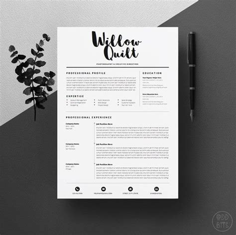 Resume Template Design by Design Resume Template Project Scope Template