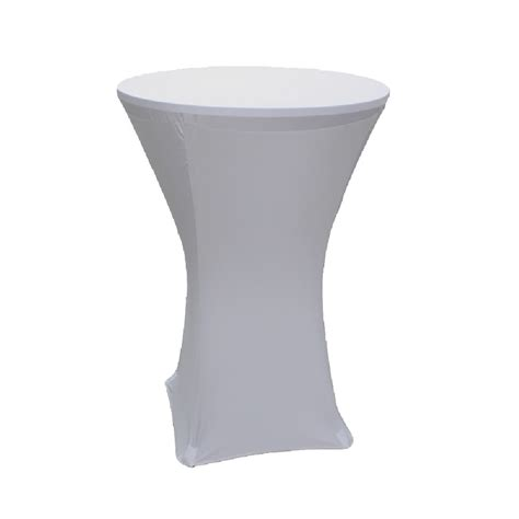 spandex tablecloth 36 inch cocktail white prestige