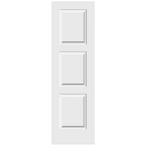 24 X 80 Interior Door Jeld Wen 24 In X 80 In C3000 Primed 3 Panel Solid Premium Composite Single Slab Interior