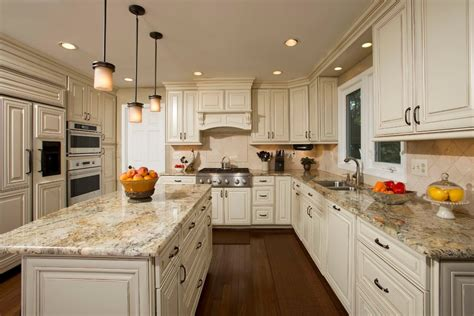 Dark granite light cabinets kitchen traditional with pendant lights mini pendant lights