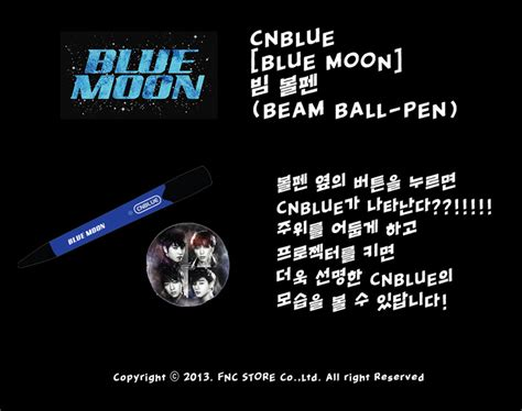 Cnblue Blue Moon Sign Poster cnblue blue moon beam point pen
