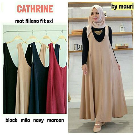Baju Muslim Overall Gloria Overall by Jual Baju Muslim Cathrine Overall Grosir Baju Muslim