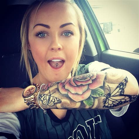 female tattoo sleeves butterflies butterfly and flower