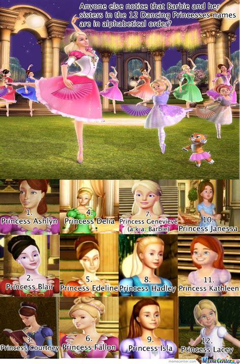 barbie film order barbie 12 dancing princesses meme funny pinterest
