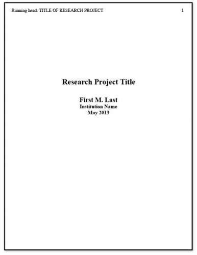 cover page for term paper apa research paper cover page source