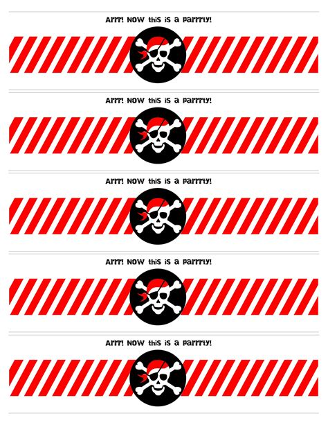printable pirate labels pirate themed birthday party with free printables water