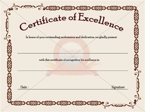 business certificate templates certificate template