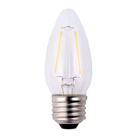 Lled Chiyoda 7 Watt Classic ecosmart 40 watt equivalent b11 dimmable filament classic glass led light bulb soft white 3