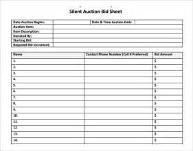 silent auction catalog template silent auction bid sheet template 17 free