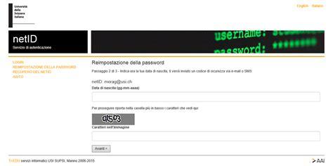 resetting netid ho dimenticato la password per accedere a icorsi2 come