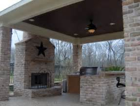 Outdoor Patio Designs With Fireplace What Are My Options For A Covered Patio Deck Archadeck Of