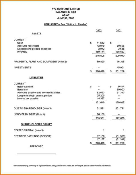 basic financial statement template 9 basic financial statements financial statement form