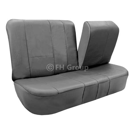 leather bench seat covers pu leather car seat covers w floor mats for split bench