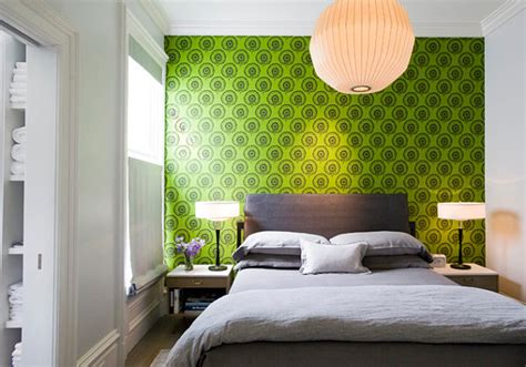 green wallpaper for bedroom 20 eye catching wallpapered rooms