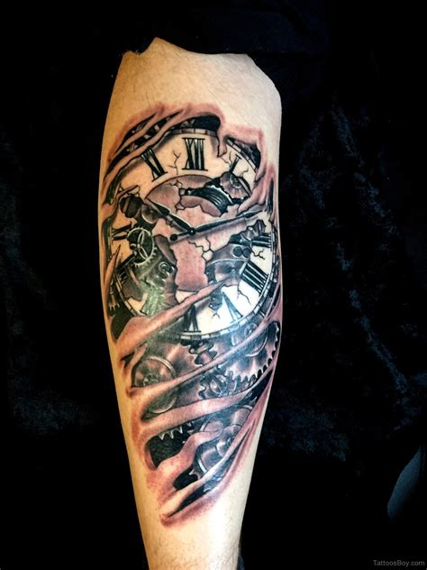 time clock tattoos clock tattoos designs pictures page 19