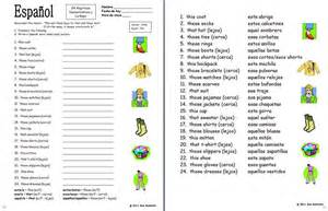 demonstrative adjectives spanish worksheet abitlikethis
