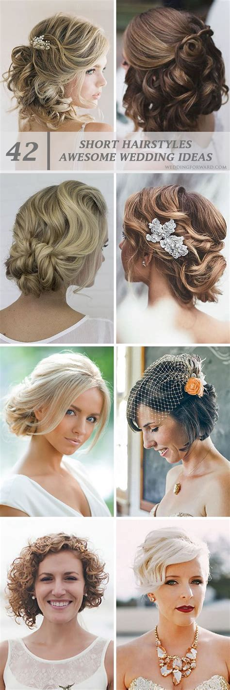 1000  ideas about Short Wedding Hairstyles on Pinterest