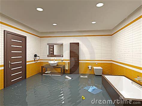 flooding bathroom flooding bathroom stock photography image 10401502