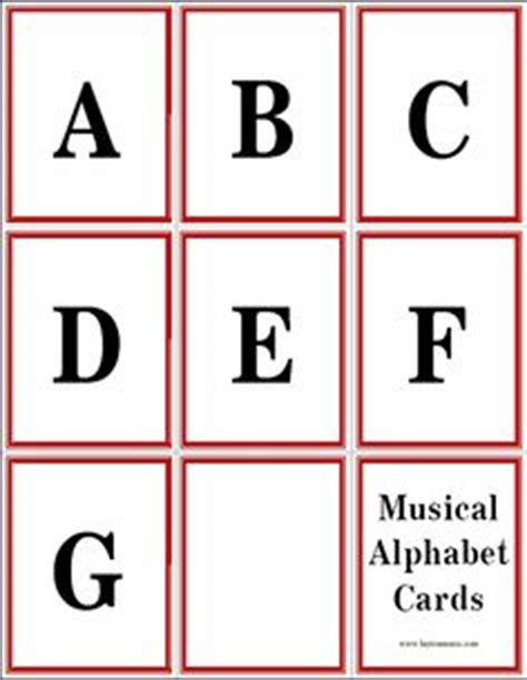 printable alphabet flash cards by nikita 1000 images about printables music on pinterest music