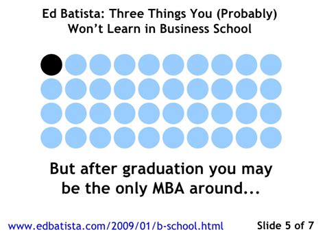 What You Learn In Mba School by Three Things You Won T Learn In Business School