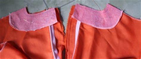 pola baju kurung moden zip belakang sweet and simple cara jahit leher kurung moden