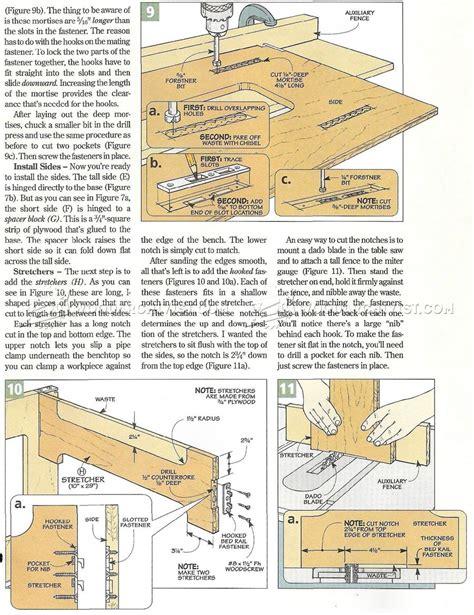 knock down picnic plans knock down workbench plans woodarchivist
