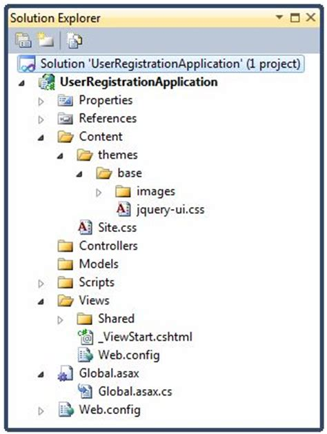 javascript directory layout getting started with razor view engine in mvc 3 codeproject