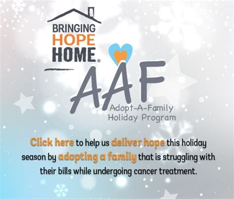 hope housing program 2015 adopt a family holiday program bringing hope home