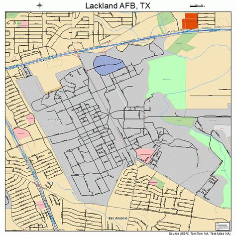 lackland texas map lackland afb texas map 4840036