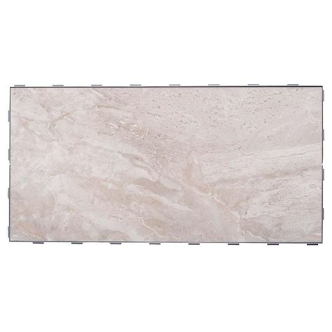 shop snapstone interlocking 4 pack oyster grey porcelain floor tile common 12 in x 24 in
