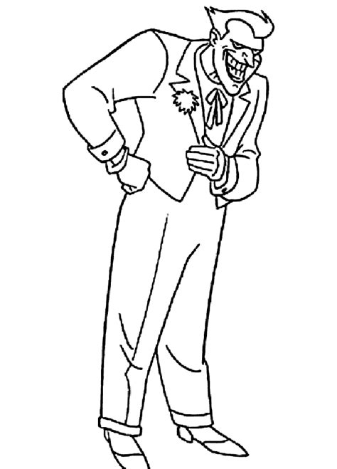free batman joker coloring pages