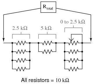 resistor networks are sometimes used as volume circuits lessons in electric circuits volume vi experiments chapter 3