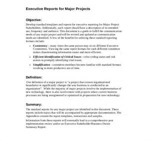 report template format executive report templates 9 free sle exle