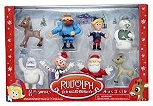 Figurine Set Isi 8pc rudolph the nosed reindeer figurine set 8pc set including 2 quot figures of rudolph