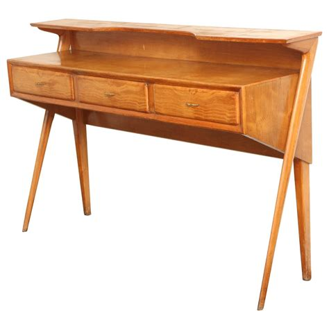 Italian Mid Century Modern Cherrywood Console Table At 1stdibs Mid Century Modern Sofa Table