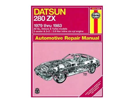 car repair manuals online pdf 1979 nissan 280zx user handbook haynes automotive repair manual 28014 datsun 280zx whitehead performance
