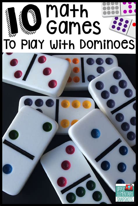 10 Free Activities To Enjoy by Elementary Snapshots 10 Math To Play With