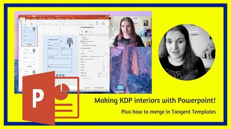 Publishing Kdp Book Interiors With Powerpoint Plus Merging In Tangent Templates Youtube Kdp Paperback Template