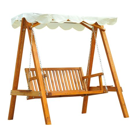 wooden swing chairs outdoor outsunny wooden swing chair outdoor patio furniture