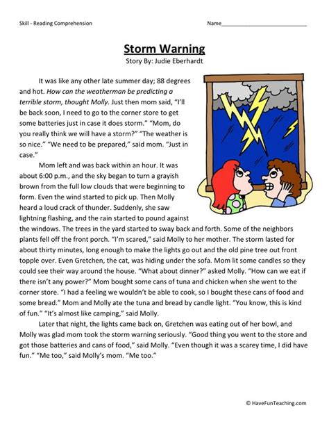 Reading Comprehension Worksheets 4th Grade by 28 4th Grade Reading Comprehension Worksheets Free