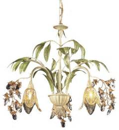 Tropical Chandelier Elk Lighting 86052 Huarco 3 Light Tropical Chandelier