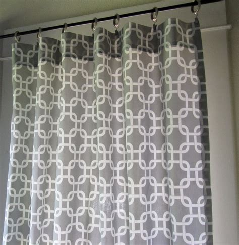 White Curtains With Gray Pattern White And Grey Patterned Curtains Home Design Ideas
