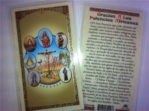 Spiritual Decor Holy Prayer Cards For The 7 African Powers Siete